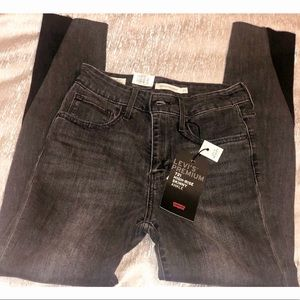 Levi's  black sculpt high waisted jeans 👖